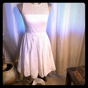 White flare Eliza J dress